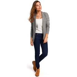 Abbigliamento Donna Top / Blusa Style S198 Cardigan con bottoni a pressione - grigio