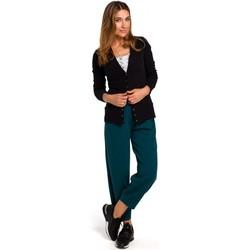 Abbigliamento Donna Gilet / Cardigan Style S198 Cardigan con bottoni a pressione - nero