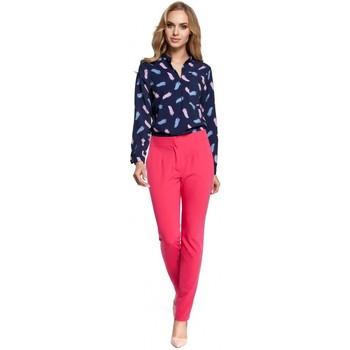 Abbigliamento Donna Pantaloni morbidi / Pantaloni alla zuava Moe M303 Pantaloni a gamba dritta - rosa