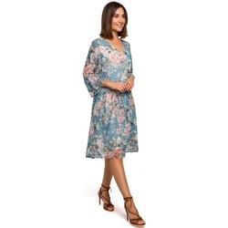 Abbigliamento Donna Abiti corti Style S214 Abito in chiffon con vita a goccia - modello 4