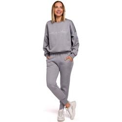 Abbigliamento Donna Pantaloni da tuta Moe M535 Pantaloni jogger con elastico in vita - acciaio