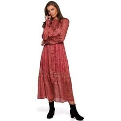 Abbigliamento Donna Abiti lunghi Style S238 Sukienka midi szyfonowa w groszki - modello 3