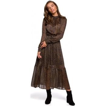 Abbigliamento Donna Abiti lunghi Style S239 Abito a matita con cintura - nero