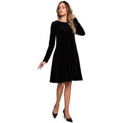 Abbigliamento Donna Abiti corti Moe M566 Vestito in velluto dal taglio rilassato - marrone