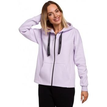 Abbigliamento Donna Felpe Moe M550 Felpa con cappuccio con zip - lilla