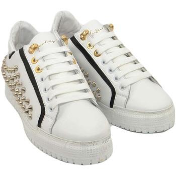 Scarpe Uomo Sneakers basse Ls Luisantiago Sneakers bassa uomo in vera pelle di nappa bianc BIANCO