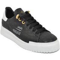 Scarpe Uomo Sneakers basse Ls Luisantiago Sneakers bassa uomo in vera pelle pitonata nero NERO