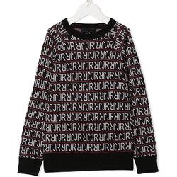 Abbigliamento Bambino T-shirts a maniche lunghe John Richmond SWEATER DISTURBIA MAGLIA BOYS RBA20185MA BLACK Nero