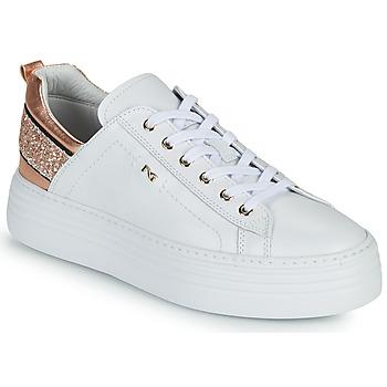 Scarpe Donna Sneakers basse NeroGiardini GATTO Bianco / Rosa / Oro