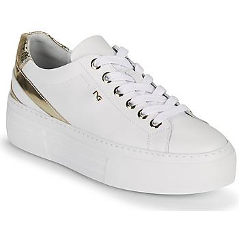 Scarpe Donna Sneakers basse NeroGiardini LAITO Bianco / Oro