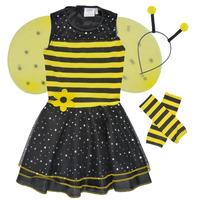 Abbigliamento Bambina Travestimento Fun Costumes COSTUME ENFANT BEE BEE Multicolore