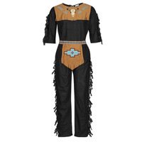 Abbigliamento Uomo Travestimento Fun Costumes COSTUME ADULTE INDIENNE SHE-WOLF Multicolore