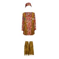 Abbigliamento Donna Travestimento Fun Costumes COSTUME ADULTE HIPPIE HOTTIE Multicolore