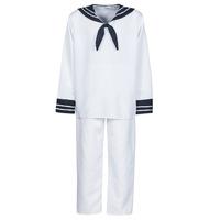 Abbigliamento Uomo Travestimento Fun Costumes COSTUME ADULTE MARIN BLANC Bianco