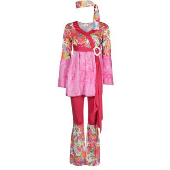 Abbigliamento Donna Travestimento Fun Costumes COSTUME ADULTE HAPPY DIVA Multicolore