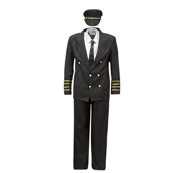 Abbigliamento Uomo Travestimento Fun Costumes COSTUME ADULTE PILOTE Multicolore