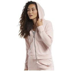 Abbigliamento Donna Felpe Reebok Sport TE Textured Logo Fullzip Rosa