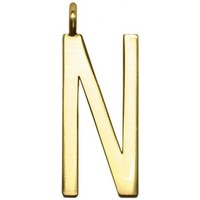 Accessori Donna Ganci porta-borse Gum Design GUM Gianni Chiarini Design  Charm Gold Letter N  GUM9369 Oro