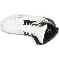 Scarpe Uomo Sneakers alte Ls Luisantiago Sneakers alta uomo in vera pelle di nappa bianco BIANCO