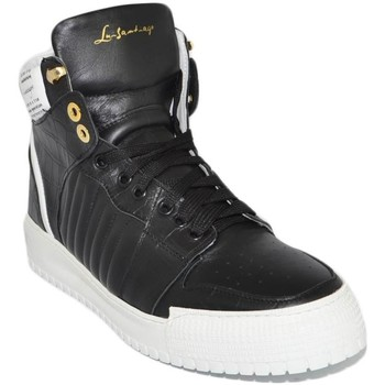 Scarpe Uomo Sneakers alte Ls Luisantiago Sneakers alta uomo in vera pelle pitonata nero c NERO