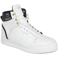 Scarpe Uomo Sneakers alte Ls Luisantiago Sneakers alta uomo in vera pelle pitonata bianco BIANCO