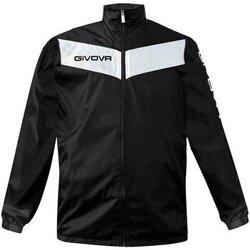 Abbigliamento Uomo giacca a vento Givova Rain Scudo Bianco, Nero