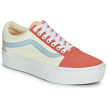 Scarpe Donna Sneakers basse Vans OLD SKOOL PLATFORM Bianco / Rosa