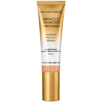 Bellezza Donna Fondotinta & primer Max Factor Miracle Touch Second Skin Found.spf20 7-neutral Medium 30 m