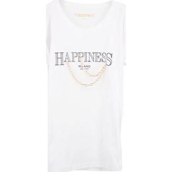 Abbigliamento Donna T-shirt maniche corte Happiness Splendida Tee Catene Bianco  HAPSPLDALA3020 Bianco
