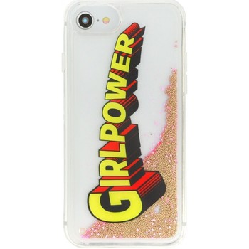 Borse Fodere cellulare Benjamins Cover Liquid GirlPower Per iPhone 8 7 6 6S Rosa Rosa