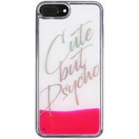 Borse Fodere cellulare Benjamins Cover Cute But Psycho iPhone 8 7 6s 6 Plus Rosa