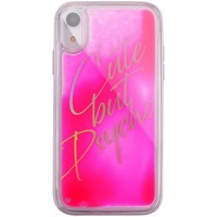 Borse Fodere cellulare Benjamins Cover Cute But Psycho iPhone XR Rosa  BENBJX Rosa