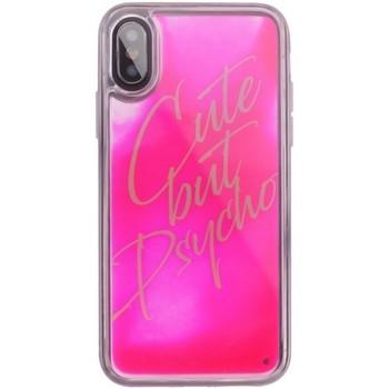 Borse Fodere cellulare Benjamins Cover Cute But Psycho iPhone XS X Rosa  BEN Rosa