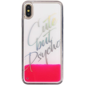 Borse Fodere cellulare Benjamins Cover Cute But Psycho iPhone XS Max Rosa  BEN Rosa