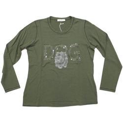 Abbigliamento Donna T-shirts a maniche lunghe Gianna Oddi ATRMPN-23931 Verde