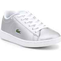 Scarpe Unisex bambino Sneakers basse Lacoste kids 7-34SPC0006334 silver