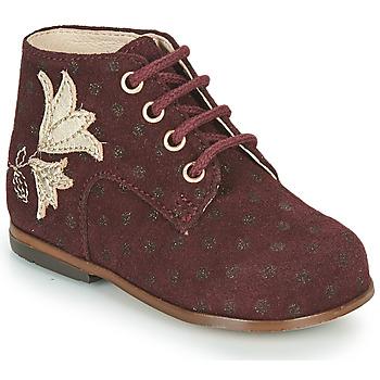 Scarpe Bambina Sneakers alte Little Mary MEIGE Bordeaux