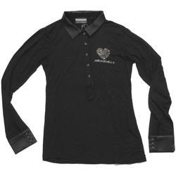 Abbigliamento Donna Polo maniche lunghe Animagemella ATRMPN-23971 Nero