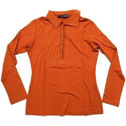 Abbigliamento Donna Polo maniche lunghe Diana Gallesi ATRMPN-23980 Arancio
