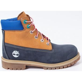 Scarpe Bambino Stivaletti Timberland Premium 6 in waterproof boot Blu