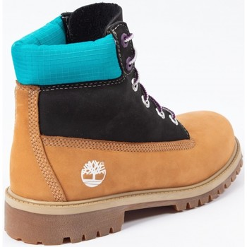 Scarpe Bambino Stivaletti Timberland Premium 6 in waterproof boot Cammello