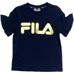 Abbigliamento Bambina T-shirt maniche corte Fila 688038 Blu