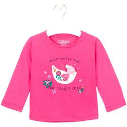 Abbigliamento Bambina T-shirts a maniche lunghe Losan 026-1008AL Rosa