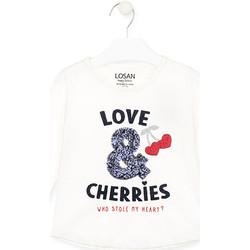 Abbigliamento Bambina T-shirts a maniche lunghe Losan 026-1022AL Bianco