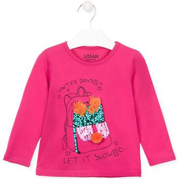 Abbigliamento Bambina T-shirts a maniche lunghe Losan 026-1201AL Rosa