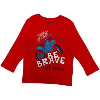 Abbigliamento Unisex bambino T-shirts a maniche lunghe Losan 025-1201AL Rosso