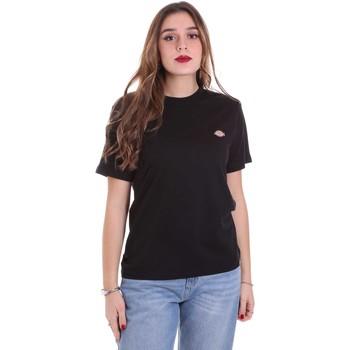 Abbigliamento Donna T-shirt maniche corte Dickies DK0A4TMYBLK1 Nero
