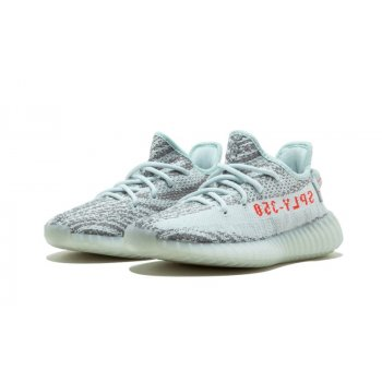 Scarpe Sneakers basse adidas Originals Yeezy 350 V2 Blue Tint  Blue Tint / Grey Three / Hi-Res Red