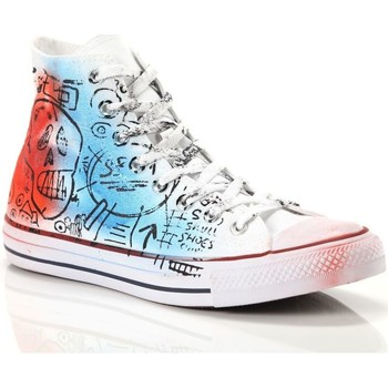 Scarpe Uomo Sneakers alte Converse Chuck Taylor All Star Hi Canvas LTD Bianco