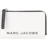 Borse Portafogli Marc Jacobs Portatessere The  The Colorblock Small Top Zip Bianco